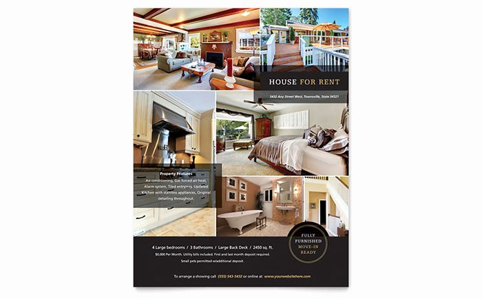 Apartment for Rent Flyer Template New House for Rent Flyer Template Word & Publisher