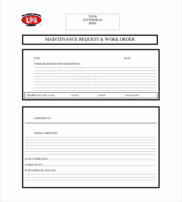 Apartment Work order Template Elegant Apartment Maintenance Request form Template Nice Apartement