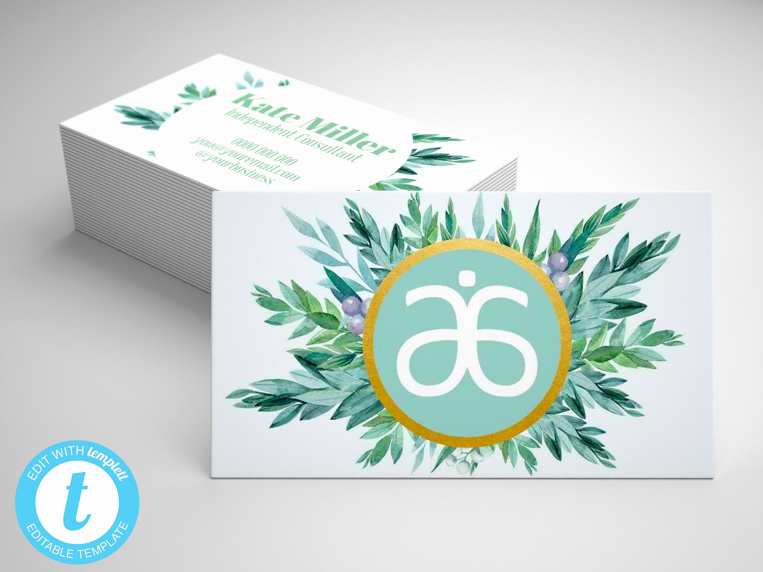 Arbonne Business Cards Template Awesome Arbonne Business Card Template Editable Arbonne Business