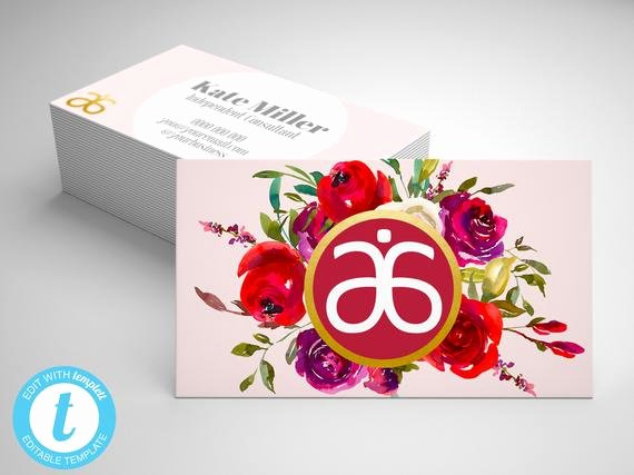 Arbonne Business Cards Template Best Of Arbonne Business Card Template Editable Arbonne Business