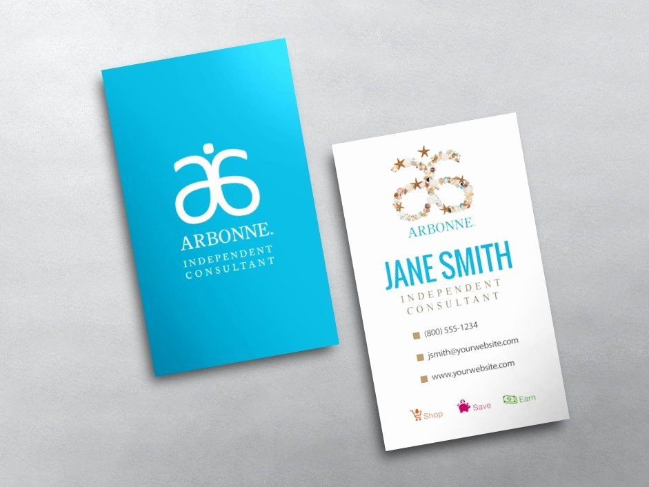 Arbonne Business Cards Template Best Of Arbonne Business Cards