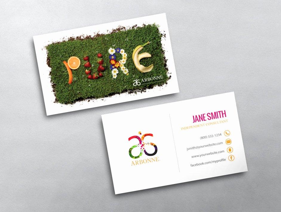 Arbonne Business Cards Template Elegant Arbonne Business Card 17
