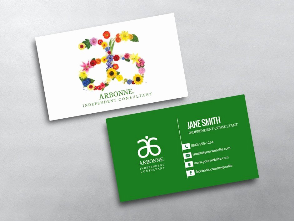 Arbonne Business Cards Template Fresh Arbonne Business Cards