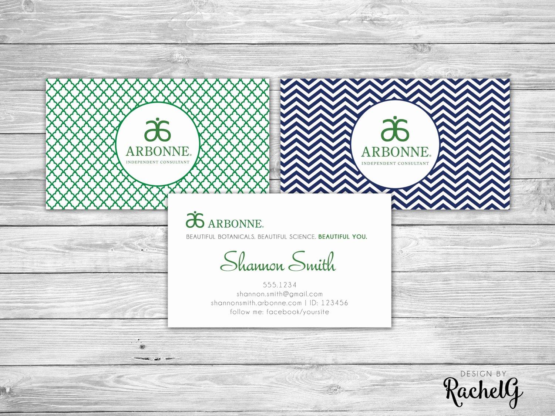 Arbonne Business Cards Template Fresh Arbonne Independent Consultant Custom Business Card Digital