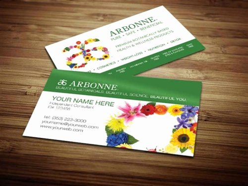 Arbonne Business Cards Template Inspirational Arbonne Business Card Design 2 Modified