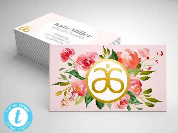 Arbonne Business Cards Template Inspirational Arbonne Business Card Template Editable Arbonne Business
