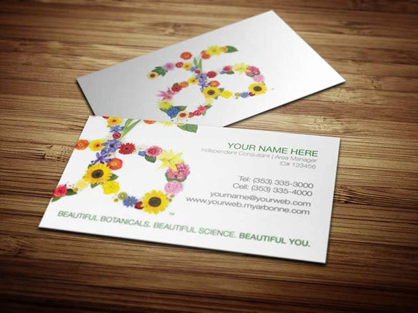 Arbonne Business Cards Template Inspirational Arbonne Business Cards On Behance