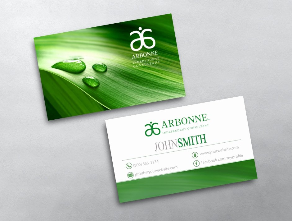 Arbonne Business Cards Template Lovely Arbonne Business Card 18