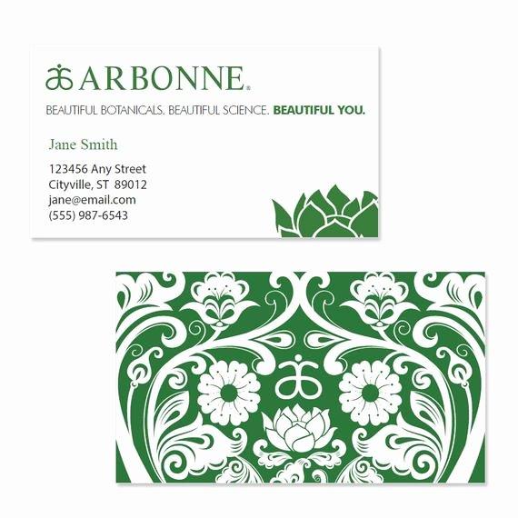 Arbonne Business Cards Template Lovely Arbonne Business Card Template Green