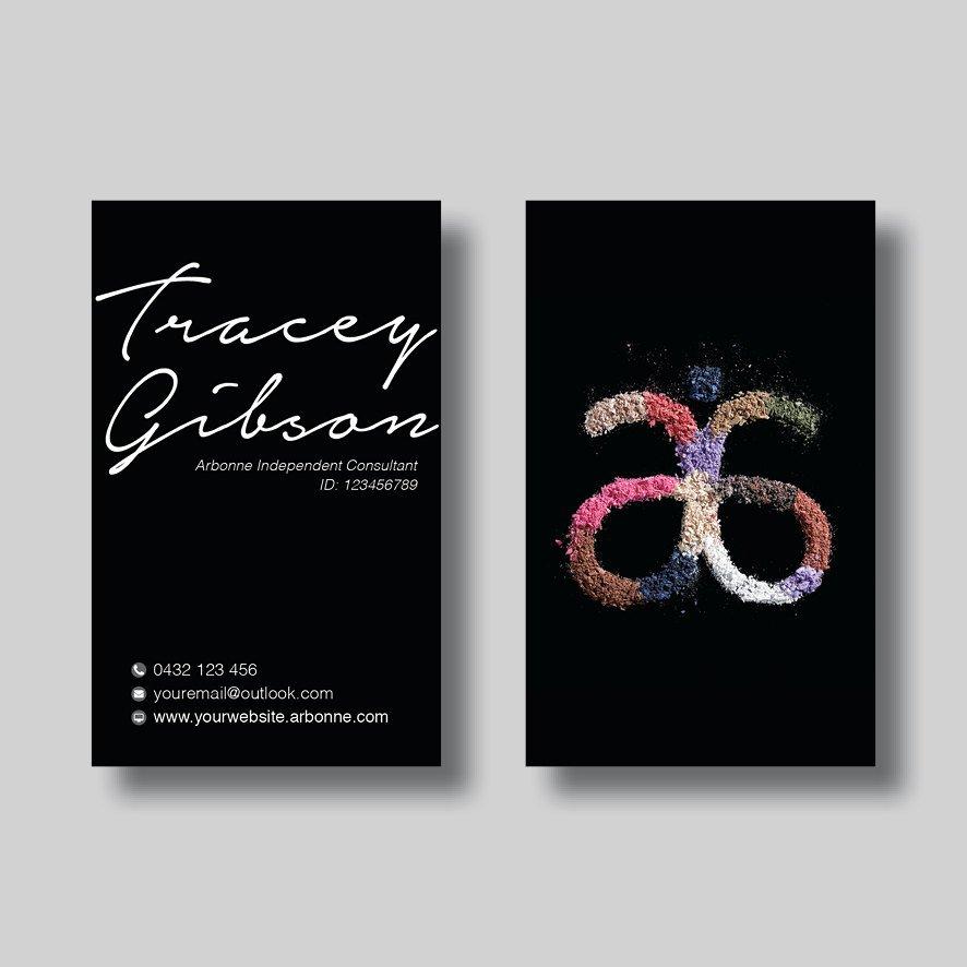 Arbonne Business Cards Template New Arbonne Business Card Black Sand Digital Design