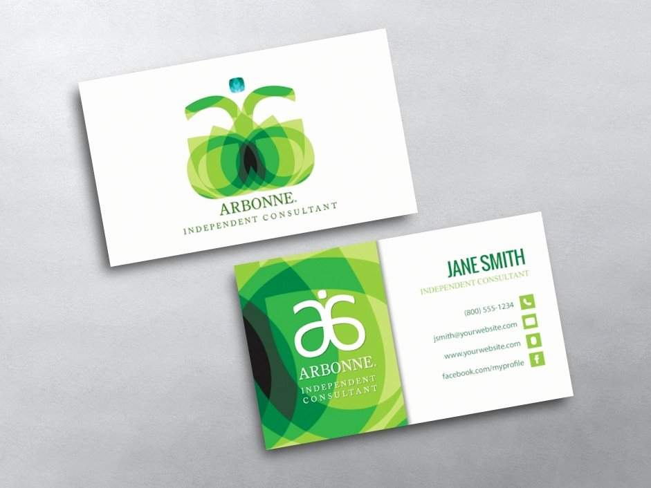 Arbonne Business Cards Template New Arbonne Business Cards