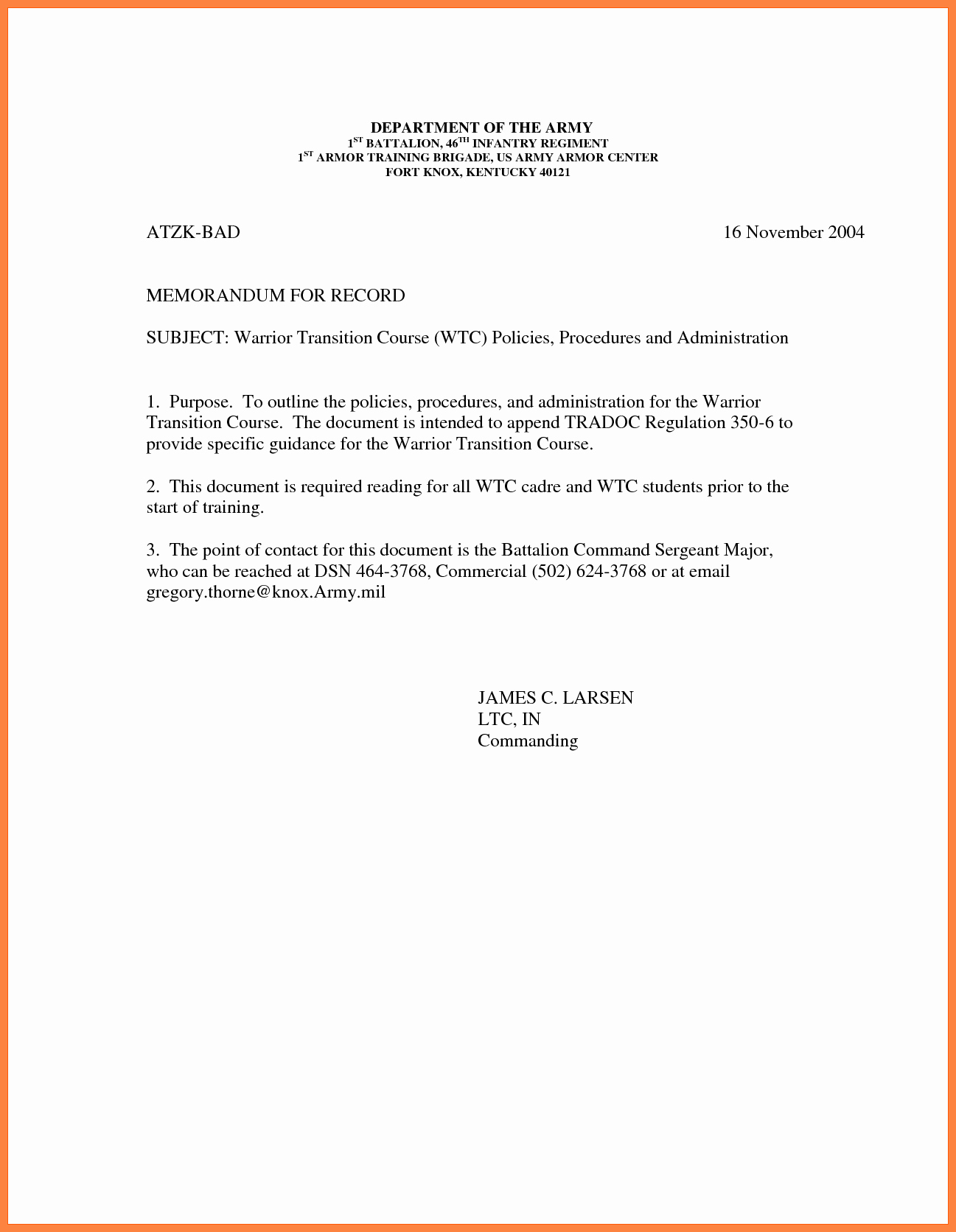 Army Memorandum for Record Template Elegant 9 Memorandum for Record Army