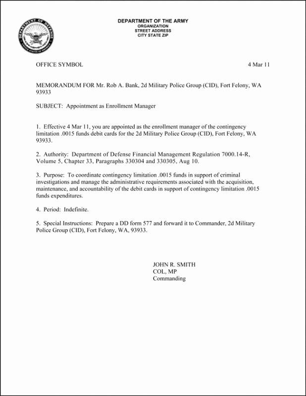 Army Memorandum for Record Template Elegant Army Memorandum for Record