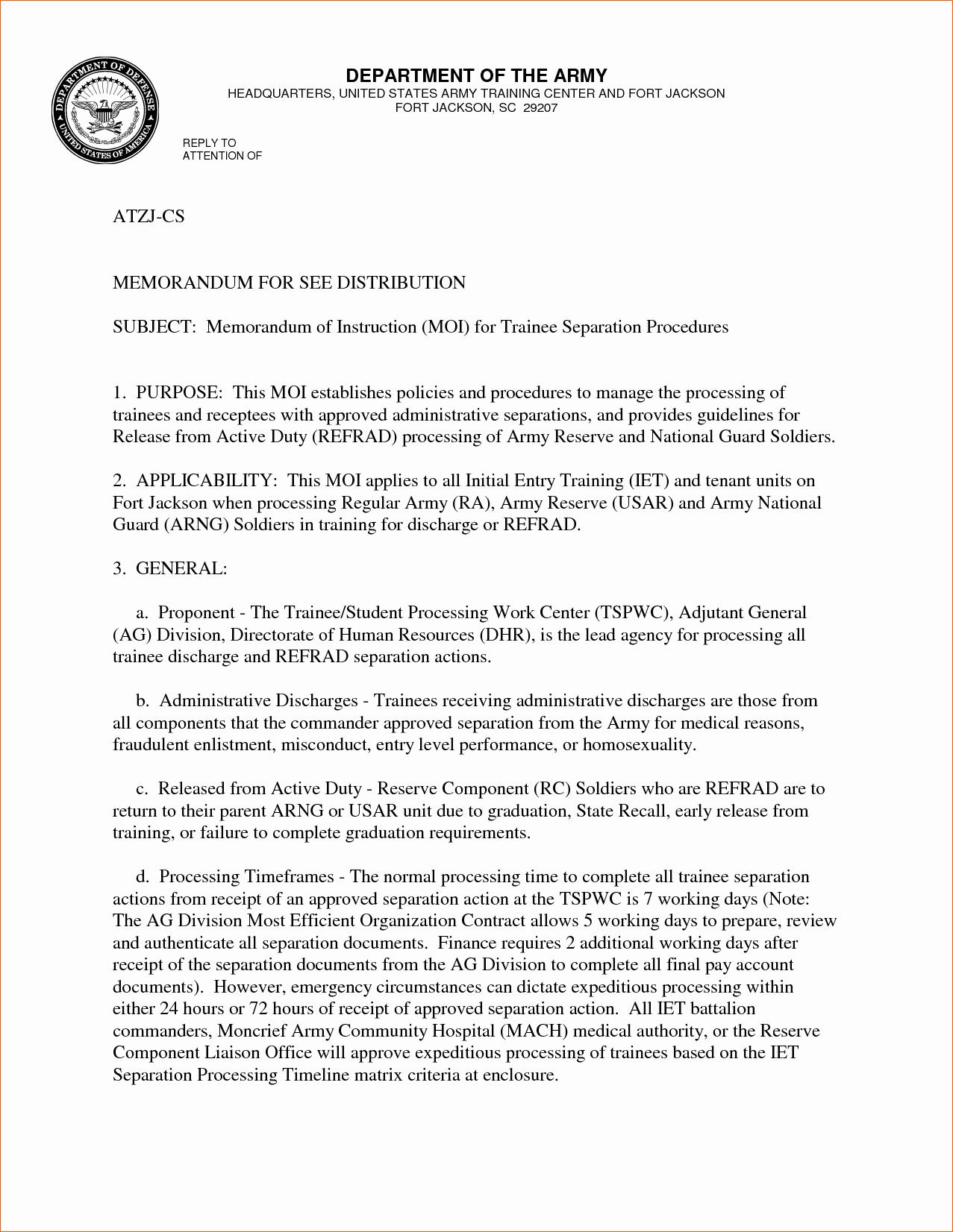 Army Memorandum for Record Template Fresh 19 Of Memorandum for Record Template Pdf with A