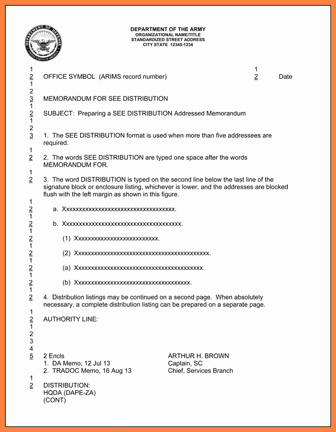 Army Memorandum for Record Template Inspirational 5 Dod Letterhead Template