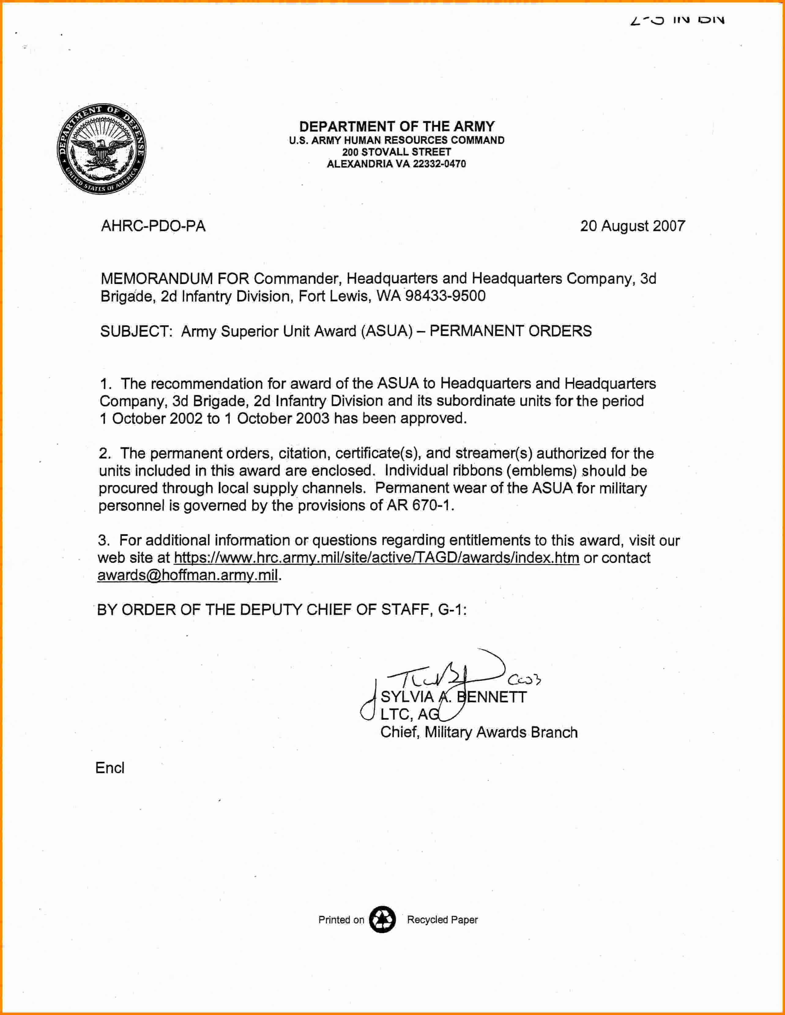 Army Memorandum for Record Template Inspirational 6 Memorandum for Record Army