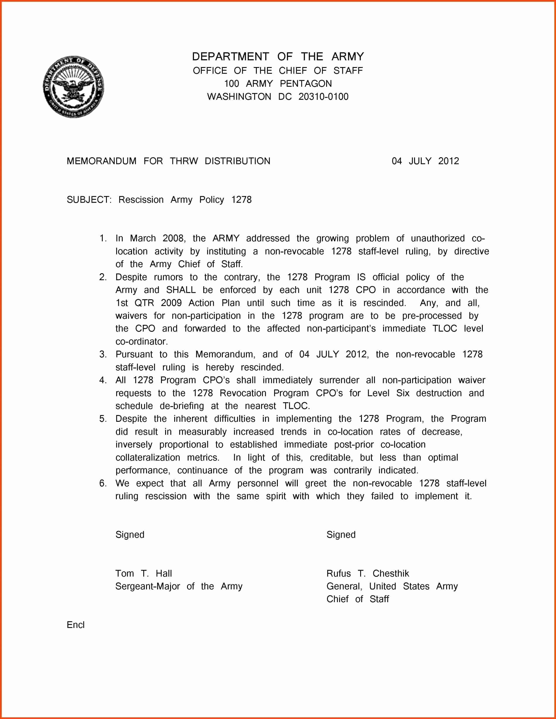 Army Memorandum for Record Template New 10 Us Army Memorandum for Record Template
