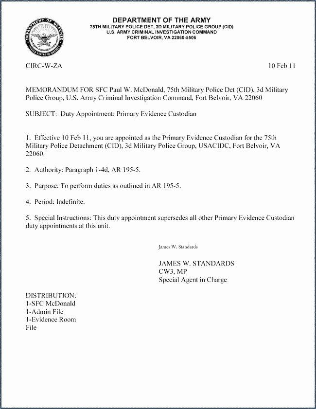 Army Memorandum for Record Template New 20 Memorandum Of Record Template