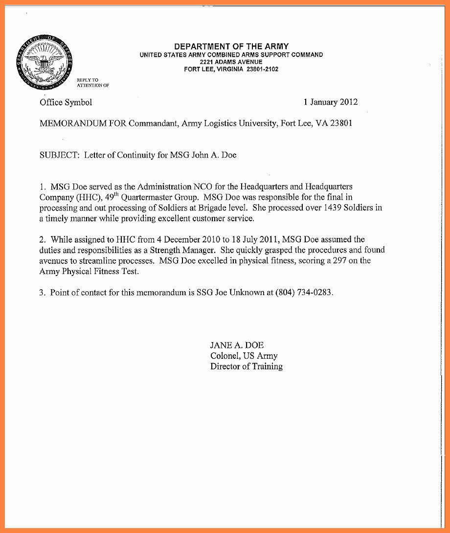 Army Memorandum for Record Template New 9 Memorandum for Record Army