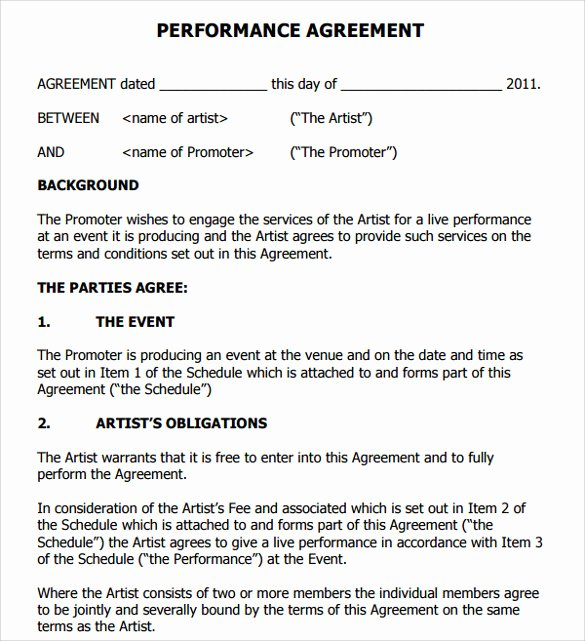 Artist Management Contract Template Best Of 12 Artist Contract Templates Pages Word Docs