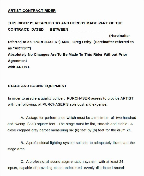 Artist Management Contract Template Fresh 14 Artist Contract Templates Word Apple Pages Pdf