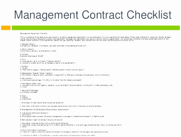 Artist Management Contract Template Pdf Luxury 6 Artist Management Contract Template Spqpe