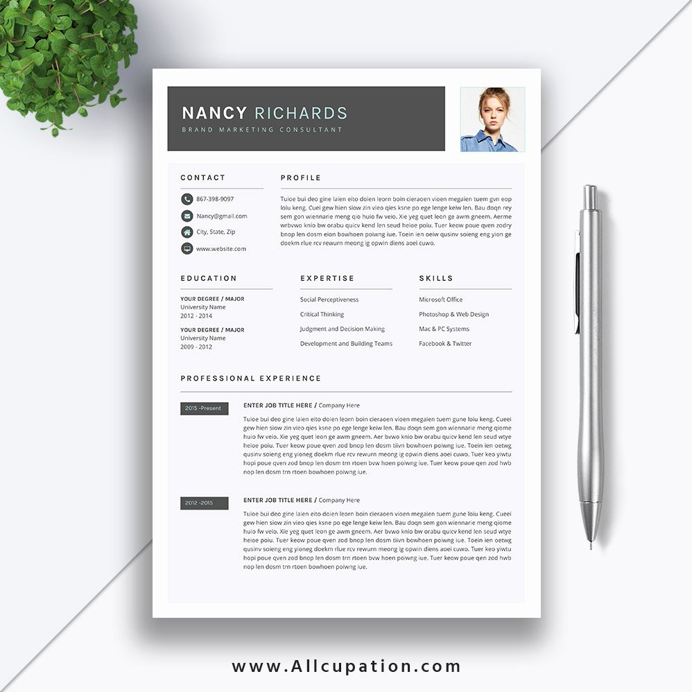 Artist Resume Template Word Fresh Simple and Professional Resume Template Download 2019
