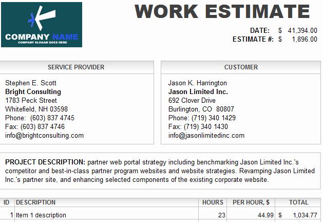 Auto Repair Estimate Template Fresh Auto Labor Quotes Quotesgram