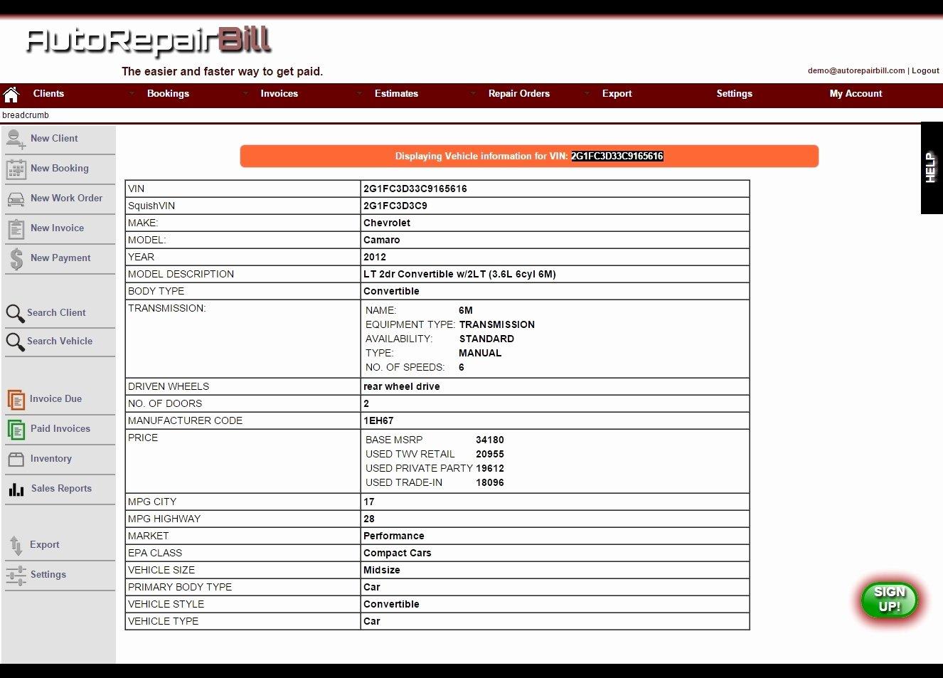 Auto Repair Invoice Template Free Elegant Auto Repair Invoice software Invoice Template Ideas