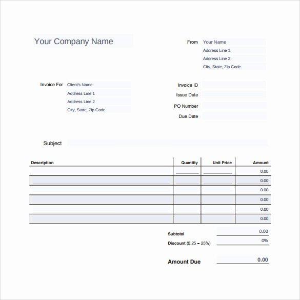 Auto Repair Invoice Template Word Unique Sample Auto Repair Invoice Template 14 Download Free