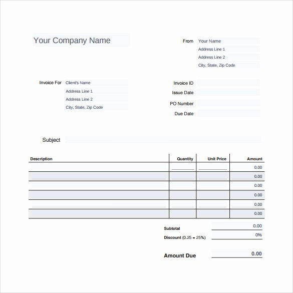 Auto Repair Template Free Unique Sample Auto Repair Invoice Template 14 Download Free