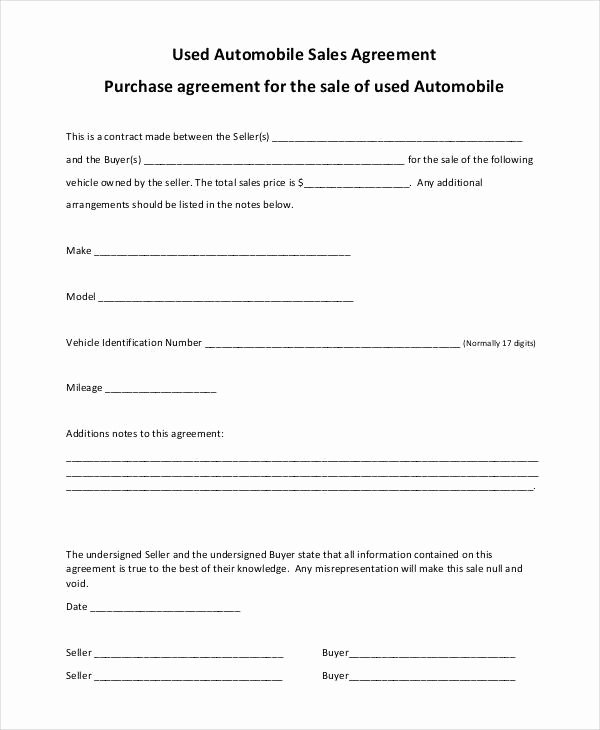 Automobile Sales Contract Templates Awesome 8 Automobile Sales Contract Samples Templates Pdf