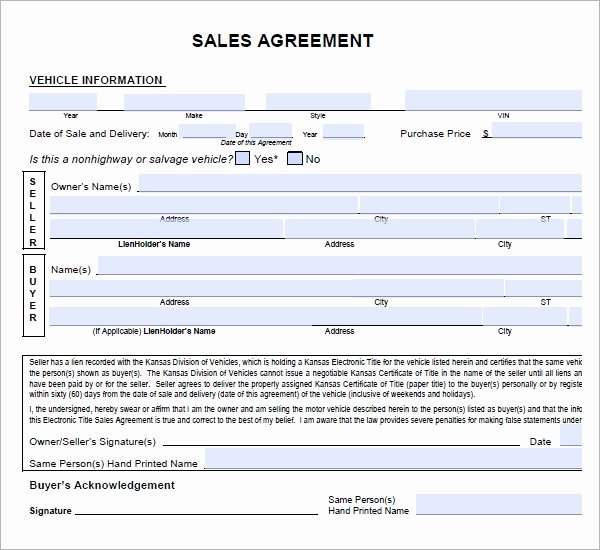 Automobile Sales Contract Templates Luxury Sales Agreement 6 Free Pdf Doc Download