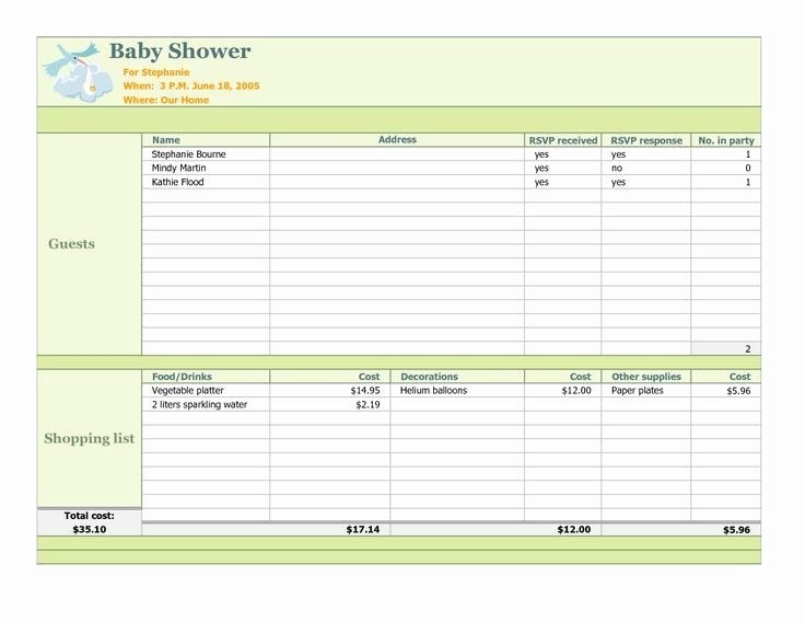 Baby Shower Checklist Template Beautiful Baby Shower Planning Checklist