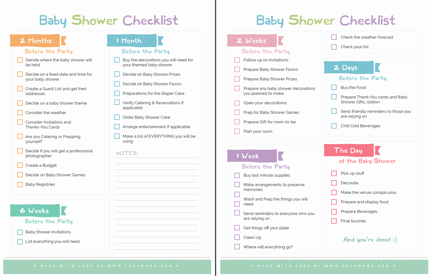 Baby Shower Checklist Template Best Of the Ly Baby Shower Checklist You Will Need Tulamama