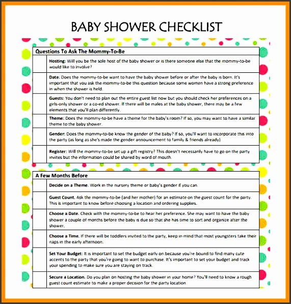 Baby Shower Checklist Template Elegant 11 Baby Shower Planner Sample Sampletemplatess