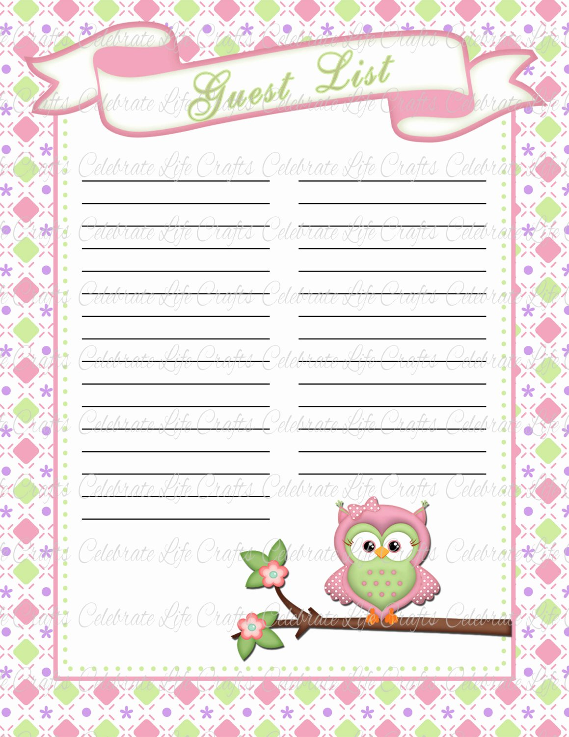 Baby Shower Guest List Template Beautiful 29 Of Baby Shower Potluck Sign Up Sheet Template