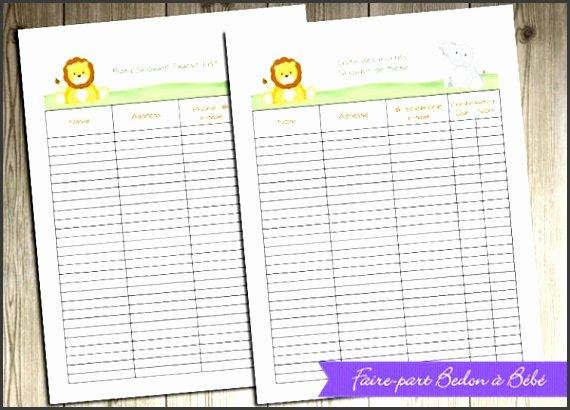 Baby Shower Planner Template Lovely 4 Baby Shower Planner Editable Sampletemplatess