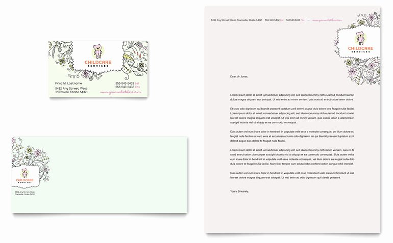 Babysitter Flyer Template Microsoft Word Beautiful Babysitting & Daycare Business Card & Letterhead Template