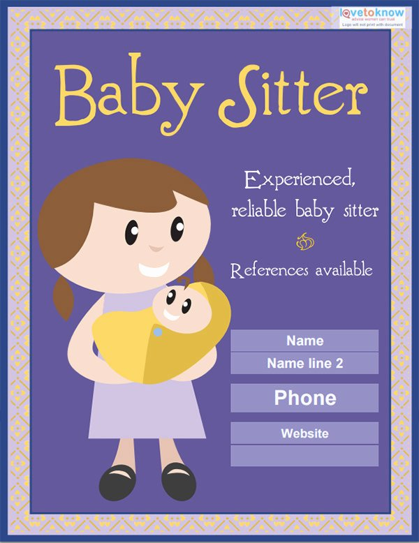 Babysitter Flyer Template Microsoft Word Elegant 13 Fabulous Psd Baby Sitting Flyer Templates In Word Psd