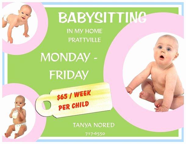 Babysitter Flyer Template Microsoft Word Elegant 15 Babysitting Flyers 13 610×471