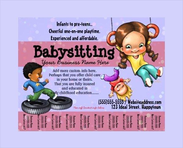 Babysitter Flyer Template Microsoft Word Inspirational 14 Babysitting Flyers Pdf Word Psd Ai Eps Vector