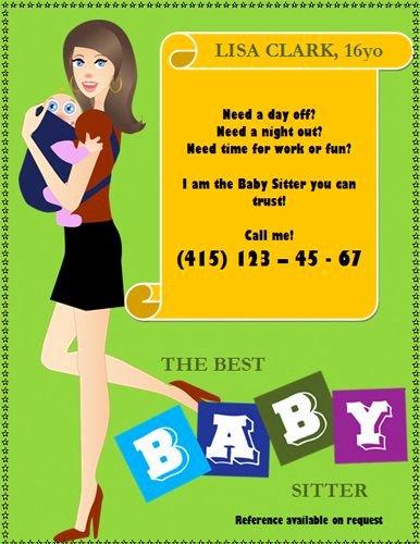 Babysitter Flyer Template Microsoft Word Inspirational Best 20 Babysitting Flyers Ideas On Pinterest