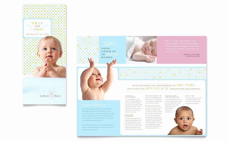 Babysitter Flyer Template Microsoft Word Inspirational Infant Care & Babysitting Brochure Template Word & Publisher