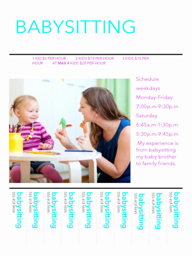 Babysitter Flyer Template Microsoft Word Lovely Flyer Templates 46 Free Templates In Pdf Word Excel