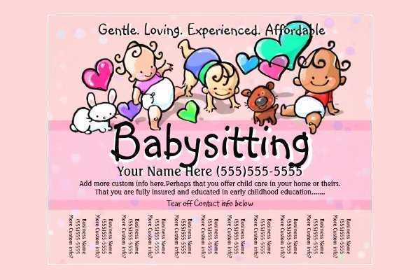 Babysitter Flyer Template Microsoft Word Luxury 13 Fabulous Psd Baby Sitting Flyer Templates In Word Psd