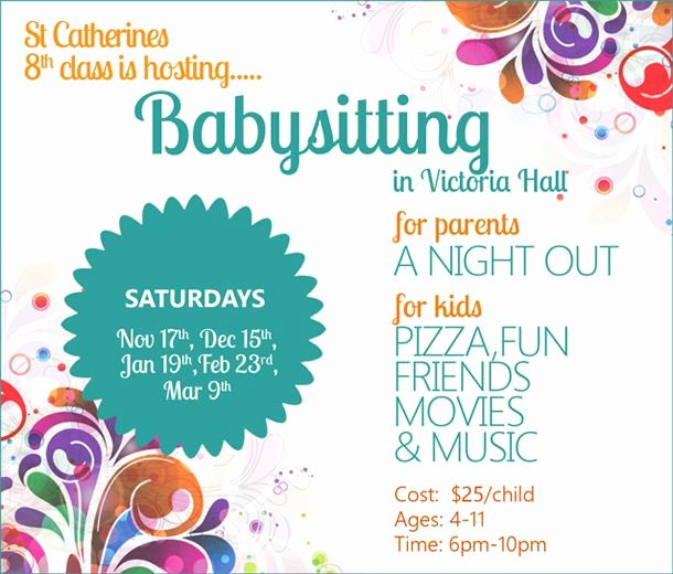 Babysitter Flyer Template Microsoft Word Luxury Best 25 Babysitting Flyers Ideas On Pinterest