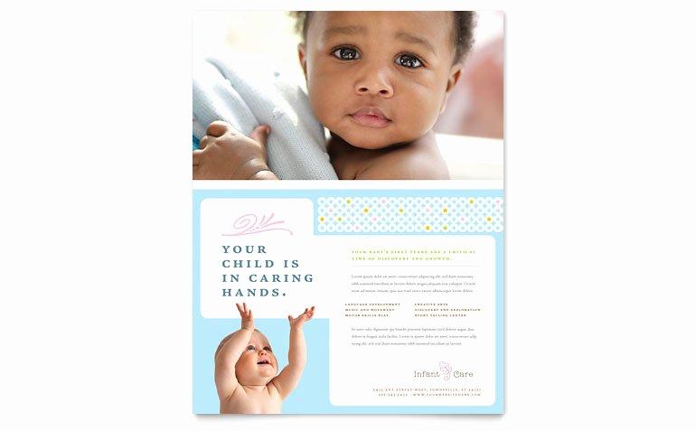 Babysitter Flyer Template Microsoft Word Luxury Infant Care & Babysitting Flyer Template Word & Publisher