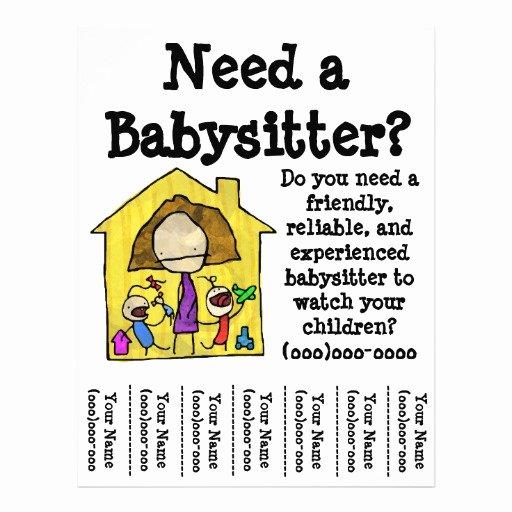 Babysitter Flyer Template Microsoft Word New 50 Babysitter Flyers Babysitter Flyer Templates and