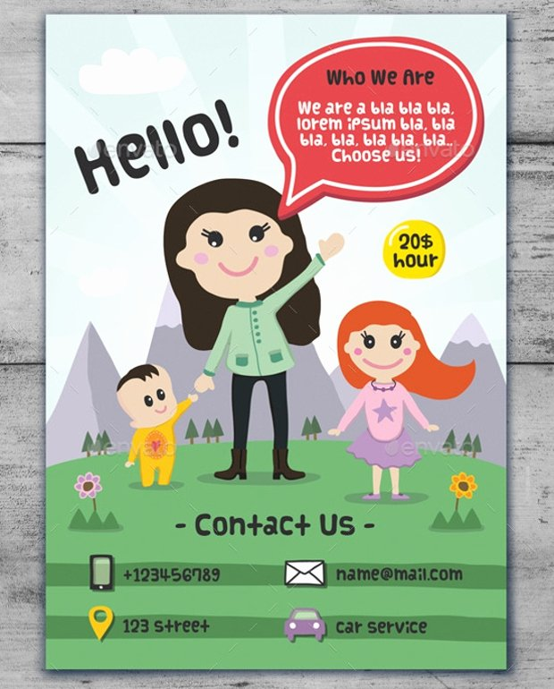 Babysitter Flyer Template Microsoft Word Unique 17 Fabulous Babysitting Flyer Designs Word Psd Ai